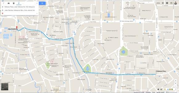 My trip, just 2.1 KM